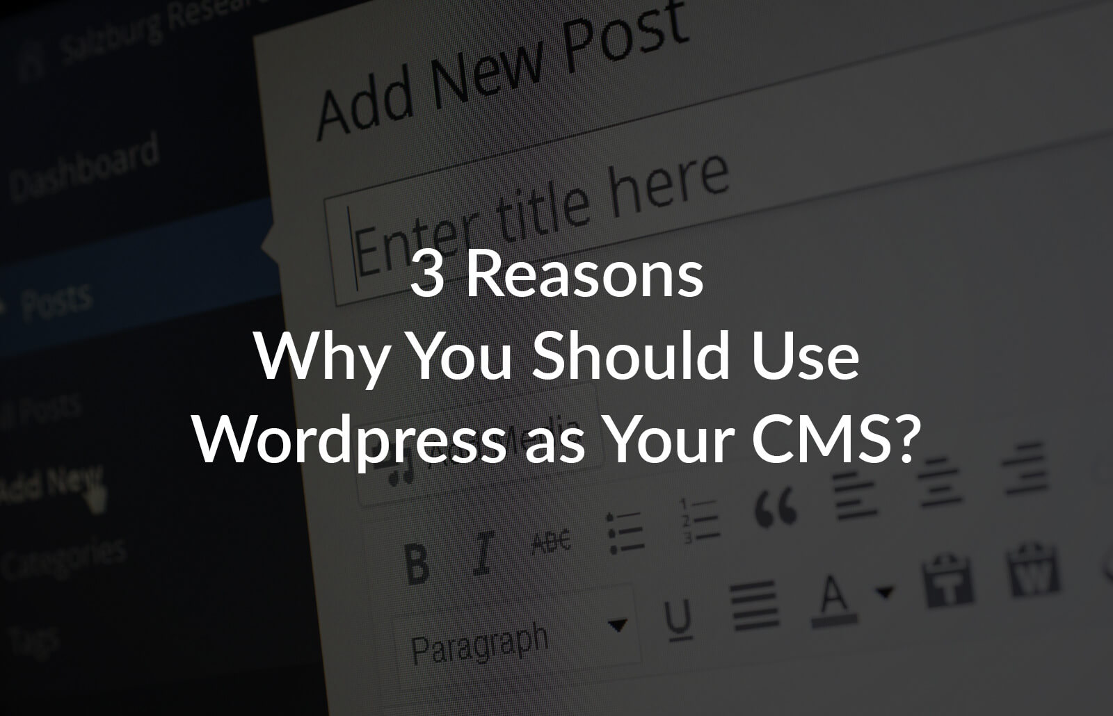 3 Reasons Why You Should Use WordPress as your CMS